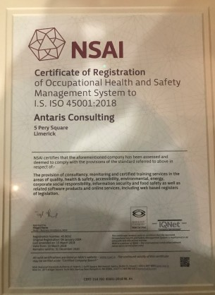 ISO 45001 Certificate 2018